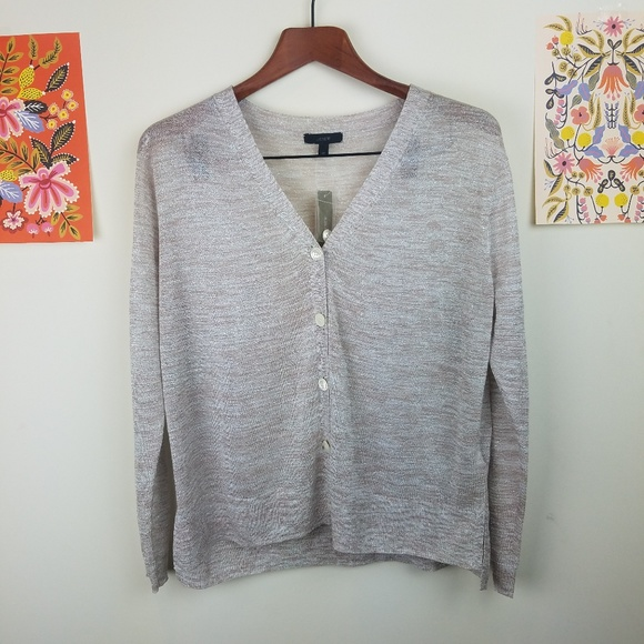 62aa944033 Space-dyed V-neck cardigan sweater
